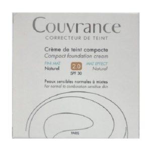Γυναίκα Avene – Couvrance Creme de Teint Oil Free Κρέμα Compact για Ματ Τελείωμα 2.0 Naturel SPF30 Fini Mat 10gr