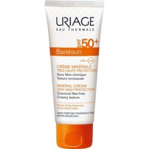 Άνοιξη Uriage – Bariesun Crème Minérale SPF50+ Αντηλιακή Κρέμα για Πρόσωπο και Σώμα για Βρέφη και Ευαίσθητα Δέρματα 100ml
