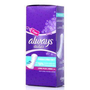 Σερβιέτες - Ταμπόν Always – Dailies Extra Προστασία Long Plus 24τμχ
