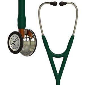 Καρδιολογικά - Littmann Littmann – Στηθοσκόπιο Cardiology IV Hunter Green με Κώδωνα Champagne-Finish Στέλεχος Orange και Champagne Ακουστικά 69cm Κωδικός 6206