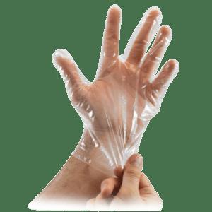 ΑΝΑΛΩΣΙΜΑ ΑΙΣΘΗΤΙΚΗΣ Softtouch – Γάντια Πολυαιθυλενίου διαφανή μιας χρήσεως Large 100τμχ