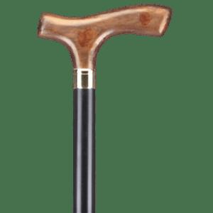 Μπαστούνια Alfacare – Μπαστούνι Μαύρο Με Ίσια Ακρυλική Λαβή Καφέ AC836