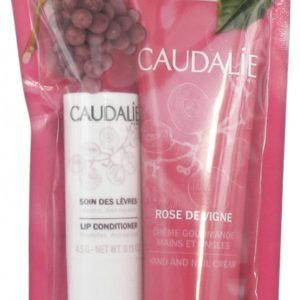 Χείλη Caudalie – Promo Rose De Vigne Κρέμα για Χέρια και Νύχια 30ml & Conditioner για τα Χείλια 4,5gr