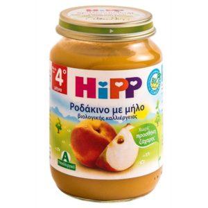 Διατροφή Βρέφους Hipp – Βρεφική Φρουτόκρέμα με Ροδάκινο και Μήλο 4Μ+ 190gr