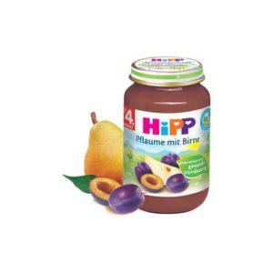 Μαμά - Παιδί Hipp – 3Βρεφική Φρουτόκρεμα Δαμάσκηνο με Αχλάδι 4Μ+ 190g