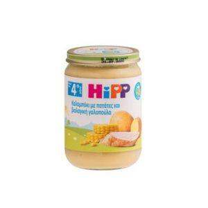 Διατροφή Βρέφους Hipp – Βρεφικό Γεύμα Καλαμπόκι με Πατάτες και Βιολογική Γαλοπούλα για 4o Mήνα 190gr
