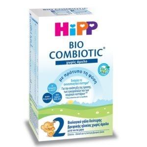 Διατροφή Βρέφους Hipp Bio Combiotic No2 Βιολογικό Γάλα Βρεφικής Ηλικίας Χωρίς Άμυλο 600g