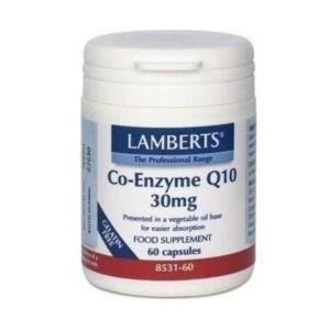 Βιταμίνες Lamberts – Συνένζυμο Q10 30mg Συμπλήρωμα Διατροφής για την Παραγωγή Ενέργειας από τα Θρεπτικά Συστατικά της Τροφής 60 tabs