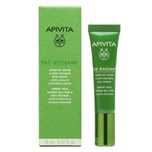 Περιποίηση Προσώπου Apivita – Bee Radiant Κρέμα Ματιών για Σημάδια Γήρανσης και Ξεκούραστης Όψης 15ml