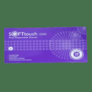 ΑΝΑΛΩΣΙΜΑ ΑΙΣΘΗΤΙΚΗΣ SOFTtouch – Γάντια Βινιλίου χωρίς Πούδρα 100τμχ