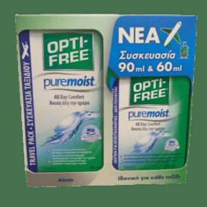 Μάτια - Αυτιά-Ph Opti-Free – Puremoist Ύγρο Φακών Επαφής Πολλαπλών Χρήσεων 90ml και Δώρο 60ml