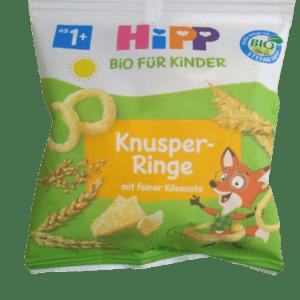 Διατροφή Βρέφους Hipp – Παιδικά Τραγανά Τυροδαχτυλίδια 1-3 Ετών 25gr