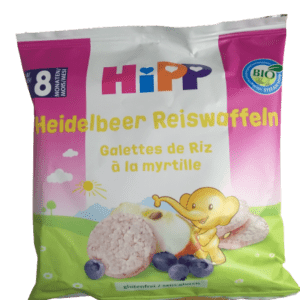 Διατροφή Βρέφους Hipp – Ρυζογκοφρετάκια Μήλου & Βατόμουρου από τον 8ο μήνα 30g
