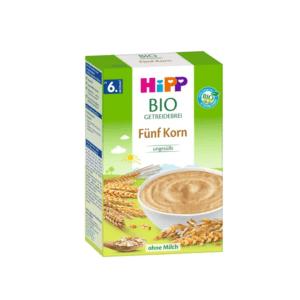 Διατροφή Βρέφους Hipp – Bio Κρέμα 5-Δημητριακών 6m+ Χωρίς Ζάχαρη 200gr