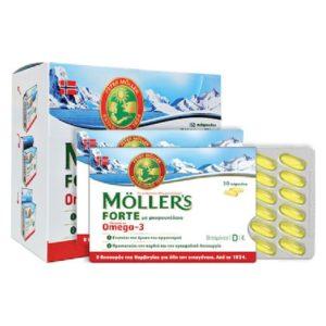 Εγκυμοσύνη - Νέα Μαμά Moller's – Forte Omega-3 Ιχθυέλαιο και Μουρουνέλαιο 150caps