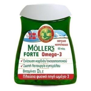 Εγκυμοσύνη - Νέα Μαμά Moller's – Forte Omega-3 Ιχθυέλαιο και Μουρουνέλαιο 60caps