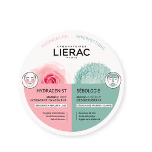 Περιποίηση Προσώπου Lierac – Duo Mask Hydragenist και Sebologie Kαθαρισμός και Εντατική Ενυδάτωση 2x6ml