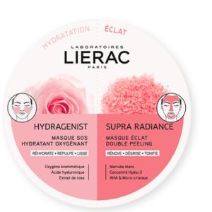 Περιποίηση Προσώπου Lierac – Duo Mask Hydragenist και Supra Radiance Kαθαρισμός και Εντατική Ενυδάτωση 2x6ml