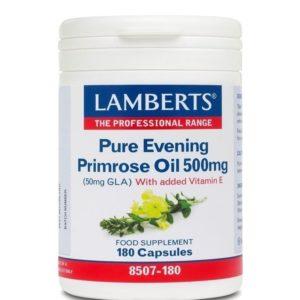 Αντιμετώπιση Lamberts – Συμπλήρωμα με Γ-Λινολεϊκό οξύ 500mg (GLA) για Γυναίκες κατά τη Διάρκεια της Περιόδου και της Εμμηνόπαυσης 180 caps