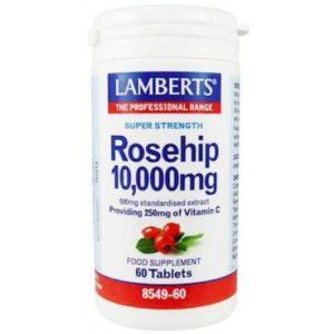 Βιταμίνες Lamberts – Καρποί Αγριοτριανταφυλλιάς 10.000mg για την Καλή Λειτουργεία Χόνδρων Ούλων Δέρματος Αγγείων Ανοσοποιητικό 60tabs