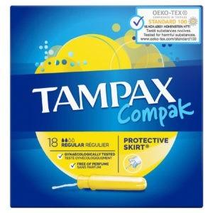 Σερβιέτες - Ταμπόν Tampex Compac – Regular 16τμχ