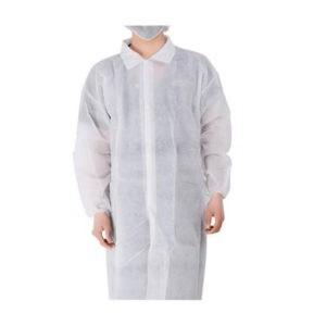 Προστατευτικός Ρουχισμός Santex – Non Woven Ρόμπα Επισκέπτη Πολυπροπυλενίου Λευκή με Velcro 25γρ. 1τμχ (XL)