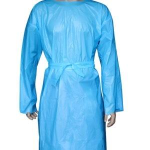 Προστατευτικός Ρουχισμός Santex- Non-Woven Ρόμπα Επισκέπτη (Large) Πολυπροπυλενίου Μπλε με Velcro 40gr. 1τμχ