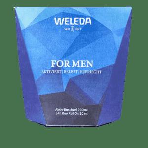 Αφρόλουτρα-Άνδρας Weleda – Promo For Men Shower Gel Energy Αφρόλουτρο 200ml και Δώρο 24h Deo Roll-On Αποσμητικό Ρολό 50ml