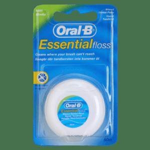 Στοματική Υγιεινή-ph Oral-B – Essential Floss Οδοντικό Νήμα Με Γεύση Μέντα 50m