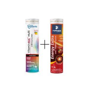 Βιταμίνες MyElements – Promo Energy Extra Έξτρα Ενέργεια με 1000mg Ταυρίνη tabs και Vitamin All Multi με Κουρκουμά 20tabs