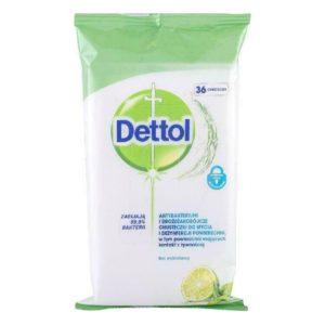 Υγεία-φαρμακείο Dettol – Cleansing Surface Wipes Lime & Mint Απολυμαντικό 36 μαντηλάκια 1τμχ