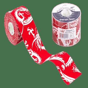 ΕΠΙΔΕΣΜΙΚΟ ΥΛΙΚΟ Nasara – Tape Κινησιοθεραπείας Dragon Design Κόκκινο