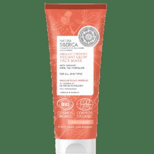 Περιποίηση Προσώπου Natura Siberica – Organic Certified Instant Glow Face Mask with Organic Kuril Tea Hydrolate Πιστοποιημένη Οργανική μάσκα προσώπου στιγμιαίας λάμψης για όλους τους τύπους επιδερμίδας 75ml