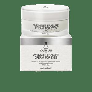 Περιποίηση Προσώπου Youth Lab – Wrinkles Erasure Cream For Eyes Κρέμα Ματιών Αντιρυτιδική και κατά των Μαύρων Κύκλων & Οιδημάτων 15ml
