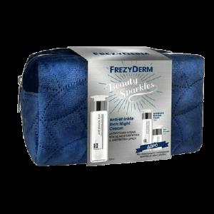 Περιποίηση Προσώπου Frezyderm – Beauty Sparkles Anti-Wrinkle Rich Night Cream 50ml Anti-Wrinkle Rich Day 15ml Eye Cream 5ml & Cosmetic Bag