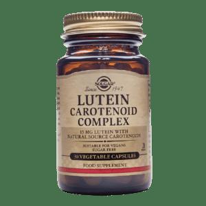 Αντιμετώπιση Solgar – Lutein Carotenoid Complex Καλή Υγεία των Οφθαλμών Χωρίς Γλουτένη 30 caps