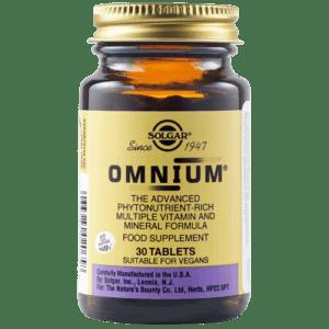 Βιταμίνες Solgar – Omnium Πολυβιταμίνη Υψηλής Βιοδιαθεσιμότητας για Ενέργεια και Τόνωση 30 tabs