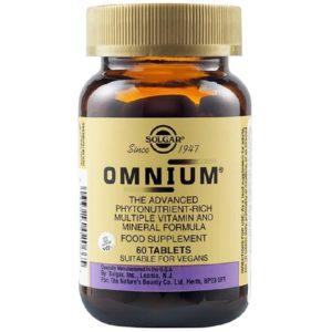 Βιταμίνες Solgar – Omnium Multiple Πολυβιταμίνη Μέταλλα και Ιχνοστοιχεία 60 tabs