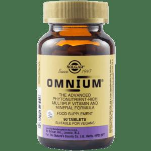 Βιταμίνες Solgar – Omnium Multiple Πολυβιταμίνη Μέταλλα και Ιχνοστοιχεία 90 tabs