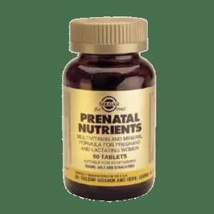 Αντιμετώπιση Solgar – Prenatal Nutrients Πολυβιταμίνες για Έγκυες και Θηλάζουσες 60tabs