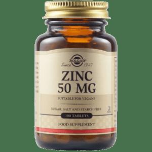 Άγχος - Στρες - Χαλάρωση Solgar – Zinc Gluconate 50mg Ψευδάργυρος για Αναπαραγωγικό και Επιδερμίδα 100 tabs