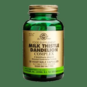 Συμπληρώματα Διατροφής Solgar – Milk Thistle/Dandelion Complex Συμπλήρωμα διατροφής 50 caps
