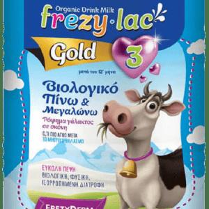 Βρεφικά Γάλατα FrezyDerm – FrezyLac Gold 3 Βιολογικό Βρεφικό Γάλα μετά τον 12ο μήνα 900g