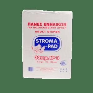 Πάνες Slip Ημέρας StromaPad – Αυτοκόλλητη Πάνα Ακράτειας Ενηλίκων, Noύμερο 3, 30τμχ