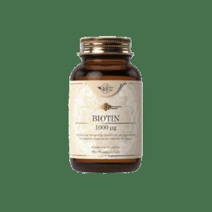 Βιταμίνες Sky Premium Life – Biotin 100mg Συμπλήρωμα Διατροφής με Βιοτίνη για την Υγεία Μαλλιών και του Δέρματος 60caps