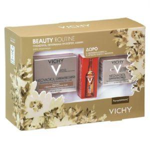 Περιποίηση Προσώπου Vichy – Promo Beauty Routine Neovadiol με Συμπλοκο Αναπλήρωσης για Ξηρή Επιδερμίδα 50ml και Δώρο Neovabiol με Συμπλοκο Αναπλήρωσης Νύχτας 15ml και Liftactiv Glyco-C Αμπούλα Νύχτας 2ml