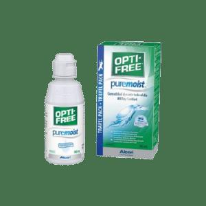 Οφθαλμικές Σταγόνες-Ph Opti-Free – Pure Moist Travel Pack Υγρό Φακών Επαφής συσκευασία ταξιδίου 90ml