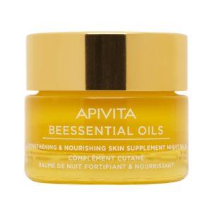 Περιποίηση Προσώπου Apivita – Beessential Oils Έλαιο Προσώπου Νυχτός για Ενδυνάμωση και Θρέψη Επιδερμίδας 15ml