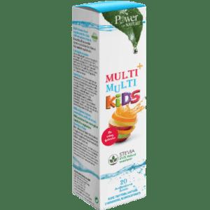 Βιταμίνες PowerHealth – Multi και Multi Kids Πολυβιταμινούχο Συμπλήρωμα Διατροφής για Παιδιά με Φυσικό Γλυκαντικό Στέβια 20caps