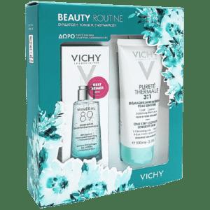 Περιποίηση Προσώπου Vichy – Promo Beauty Routine Mineral 89 50ml και Δώρο Purete Thermale 3 σε 1 Γαλάκτωμα Καθαρισμού 100ml